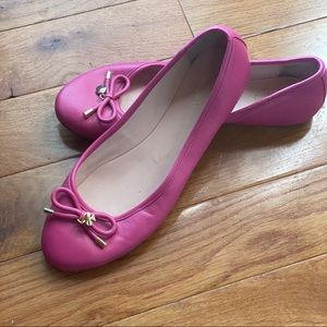 Kate Spade Pink Leather Flats w now sz 8.5